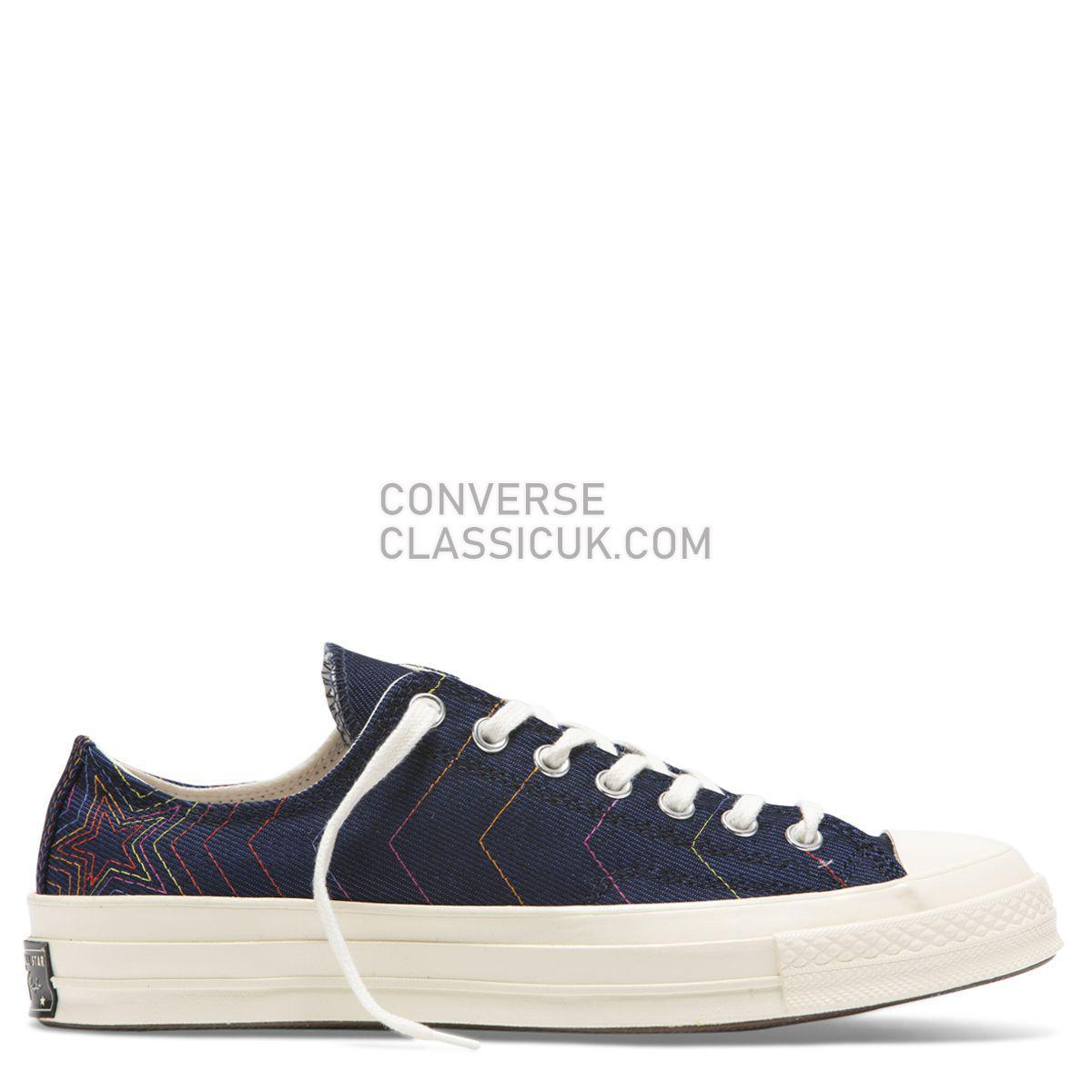 Converse Chuck Taylor All Star 70 Rainbow Low Top Obsidian Mens Womens Unisex 164967 Obsidian/Ozone Blue/Egret Shoes
