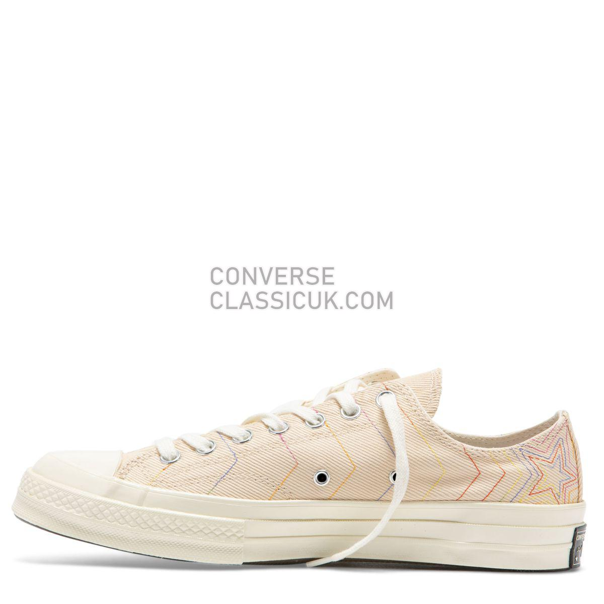 Converse Chuck Taylor All Star 70 Rainbow Low Top Light Bisque Mens Womens Unisex 164966 Light Bisque/Pale Putty/Egret Shoes