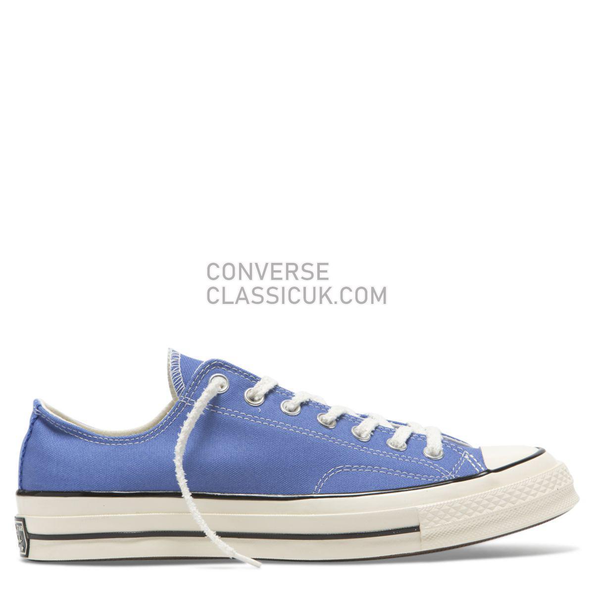 Converse Chuck Taylor All Star 70 Vintage Canvas Low Top Ozone Blue Mens Womens Unisex 164929 Ozone Blue/Egret/Black Shoes