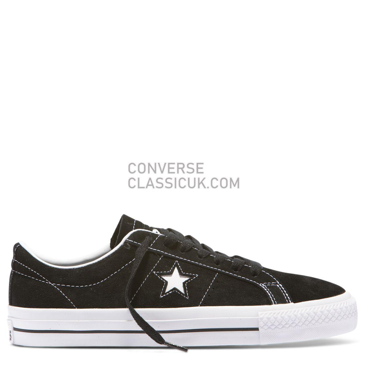 Converse CONS One Star Pro Suede Low Top Black Mens 159579 Black/White/White Shoes