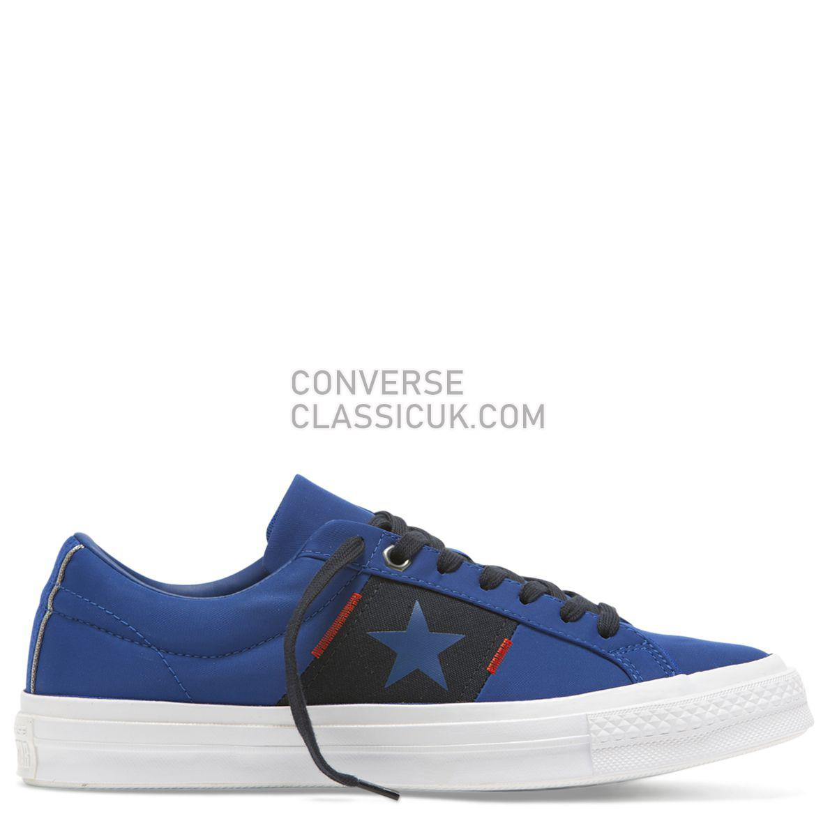 Converse One Star Flight School Low Top Blue Mens Womens Unisex 165057 Blue/Dark Obsidian/White Shoes