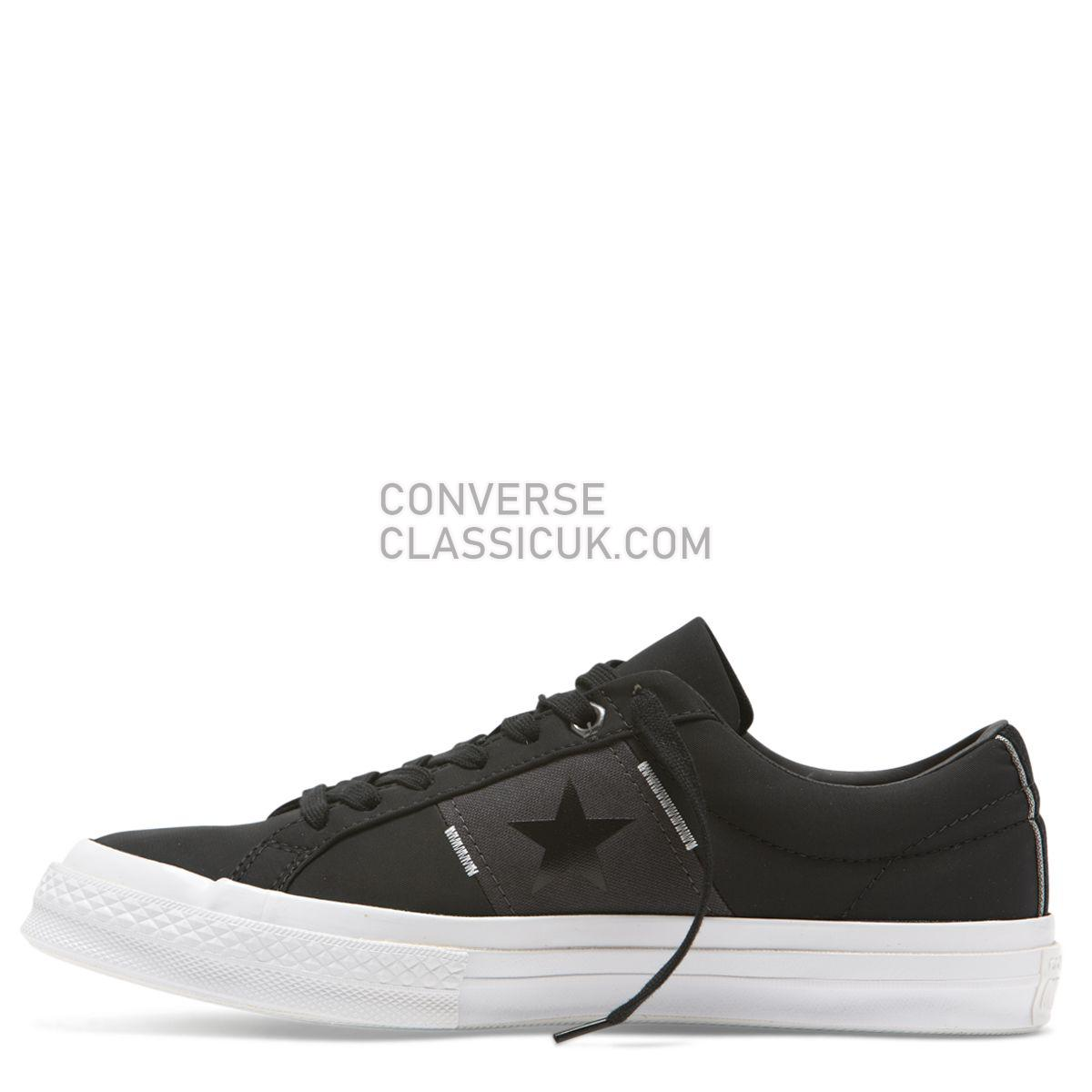 Converse One Star Flight School Low Top Black Mens Womens Unisex 165059 Black/Almost Black/White Shoes