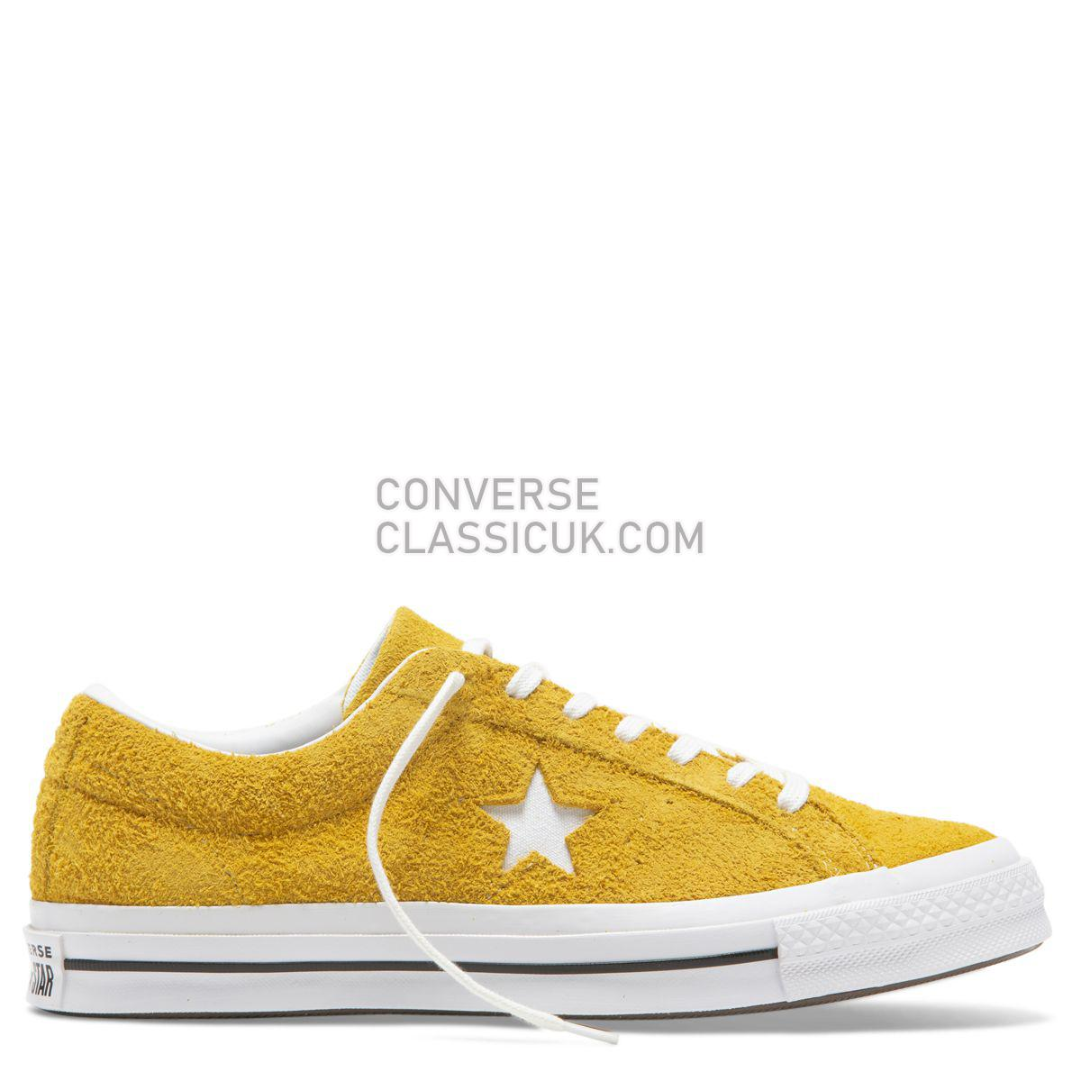Converse One Star Vintage Suede Low Top Gold Dart Mens Womens Unisex 165033 Gold Dart/White/Black Shoes