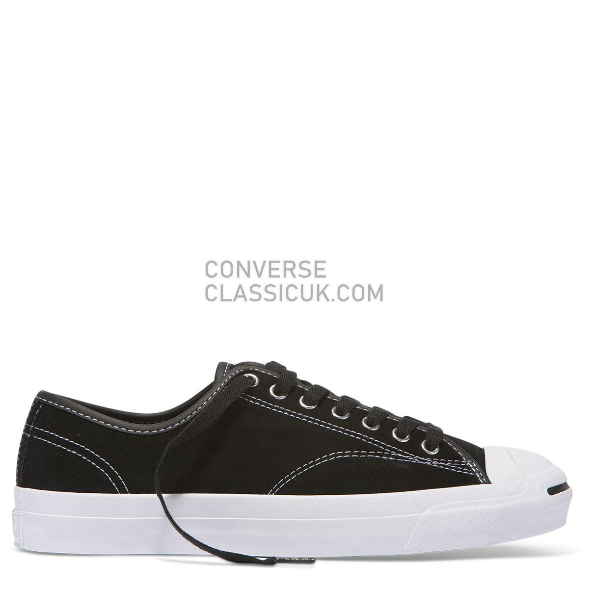 Converse Jack Purcell Pro Suede Low Top Black Mens Womens Unisex 159508 Black/Black/White Shoes