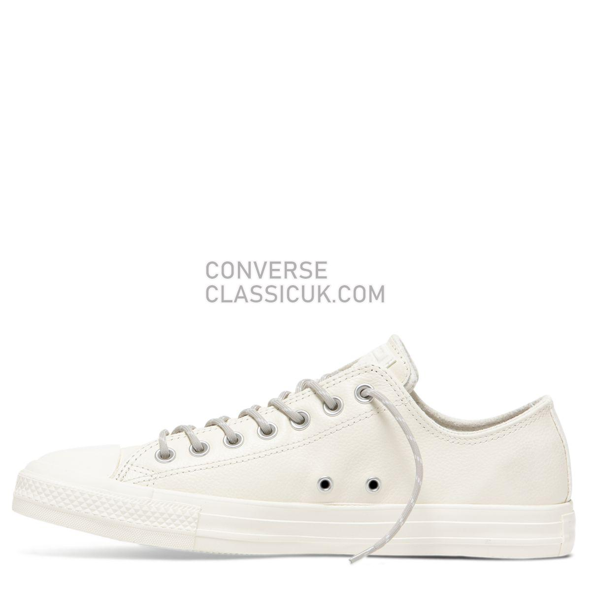 Converse Chuck Taylor All Star Limo Leather Low Top Egret Mens Womens Unisex 163342 Egret/Papyrus/Egret Shoes