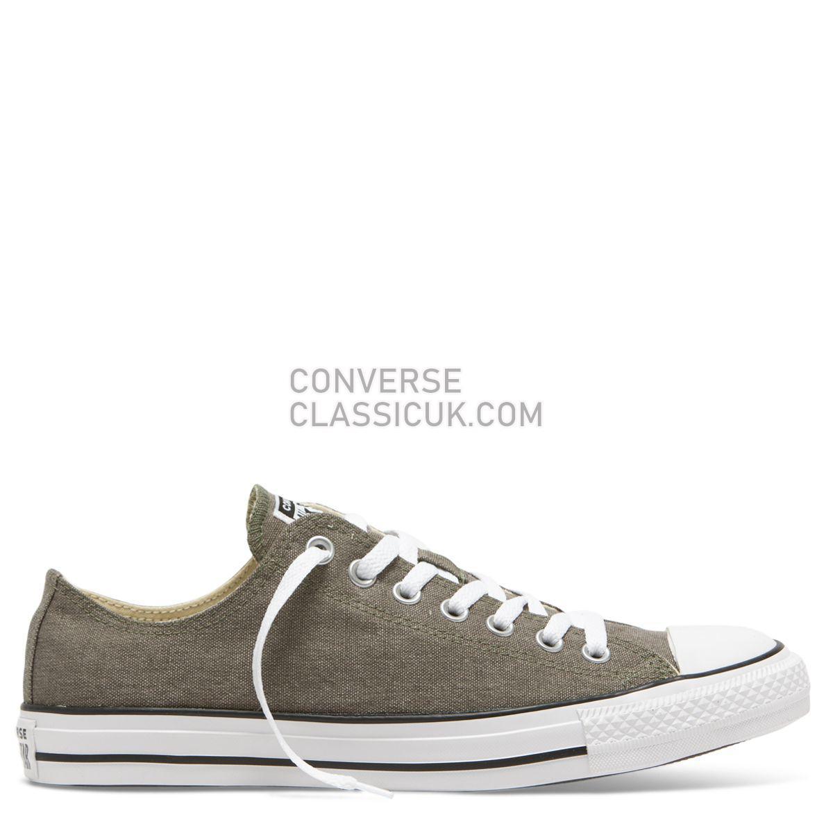 Converse Chuck Taylor Washed Ashore Low Top Field Surplus Mens Womens Unisex 164289 Field Surplus/White/Black Shoes