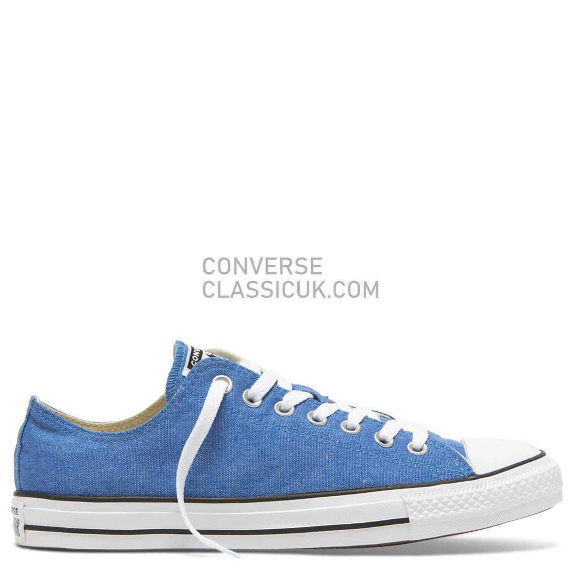 Converse Chuck Taylor Washed Ashore Low Top Totally Blue Mens Womens Unisex 164288 Totally Blue/White/Black Shoes