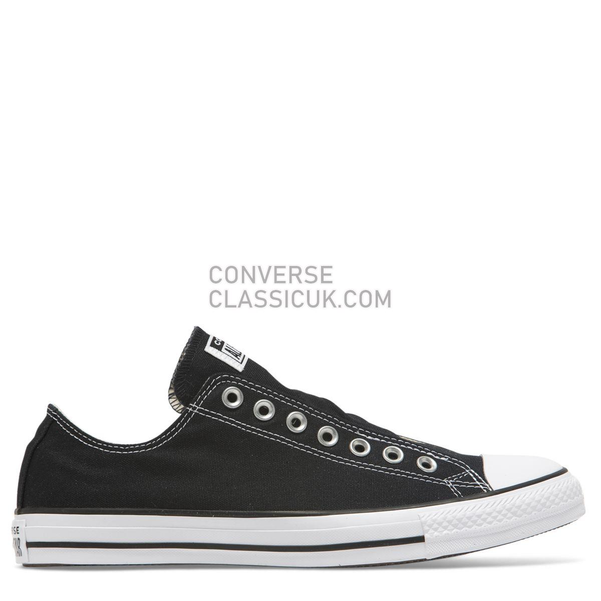 Converse Chuck Taylor All Star Seasonal Slip Low Top Black Mens Womens Unisex 164300 Black/White/Black Shoes