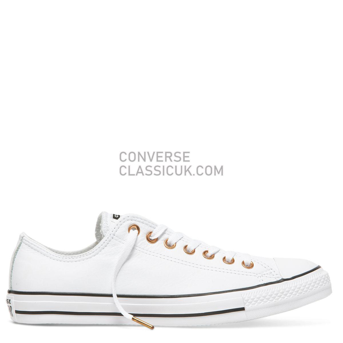 Converse Chuck Taylor All Star Leather Low Top White Mens Womens Unisex 161262 White/White/Black Shoes