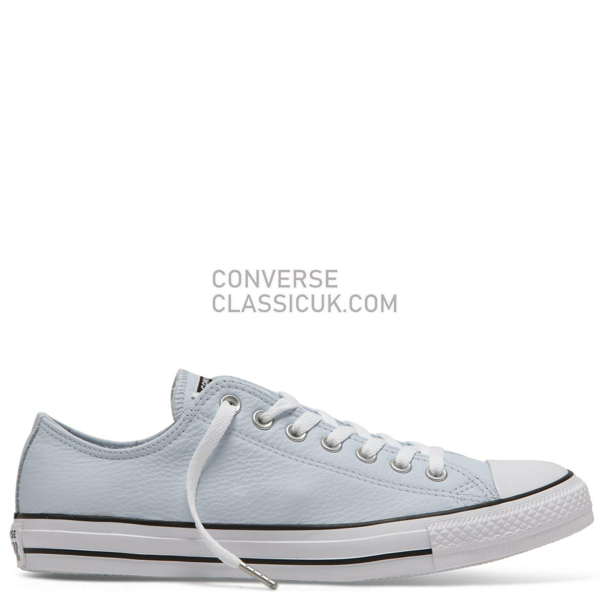 Converse Chuck Taylor All Star Leather Low Top Blue Tint Mens 162041 Blue Tint/White/Black Shoes