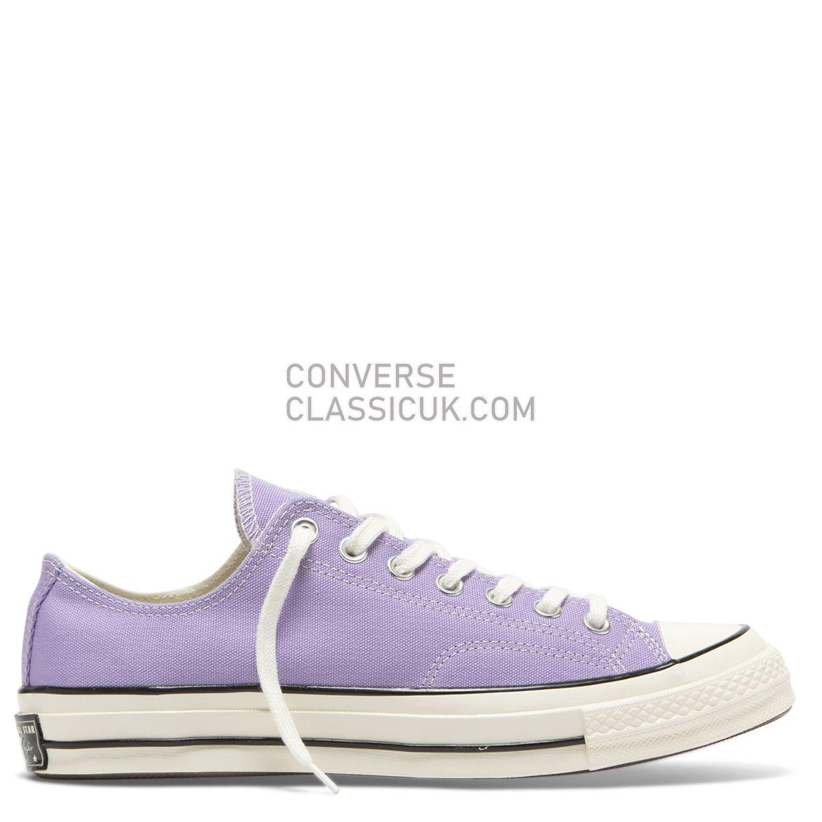 Converse Chuck Taylor All Star 70 Washed Canvas Low Top Washed Lilac Mens Womens Unisex 164405 Washed Lilac/Egret/Egret Shoes