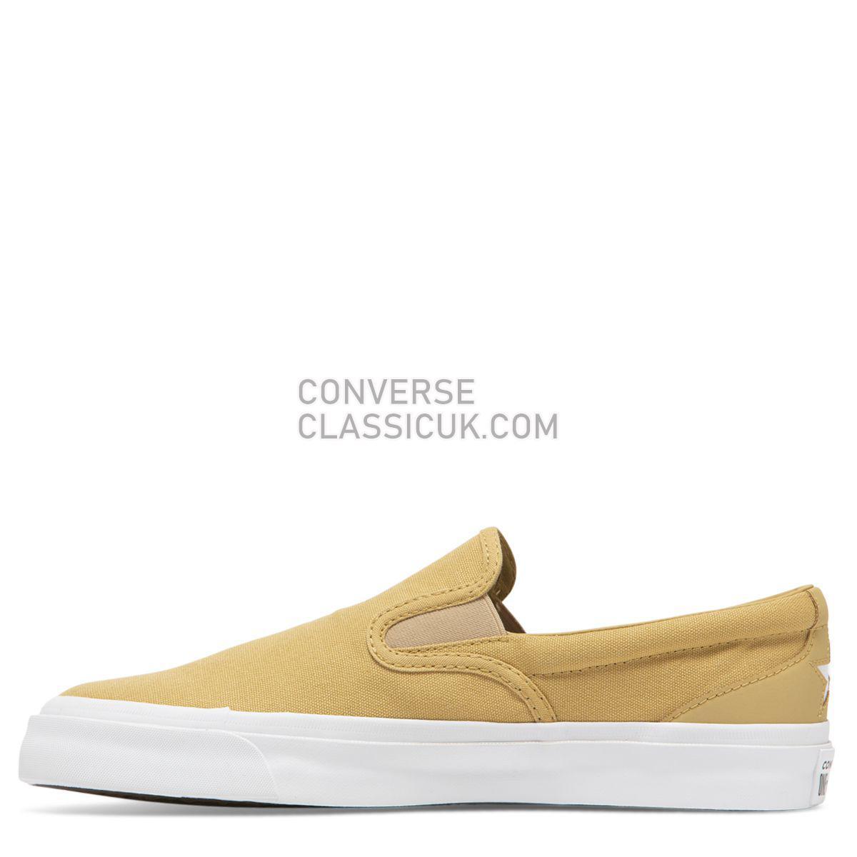 Converse CONS One Star CC Slip Club Gold Mens 163371 Club Gold/Club Gold/White Shoes