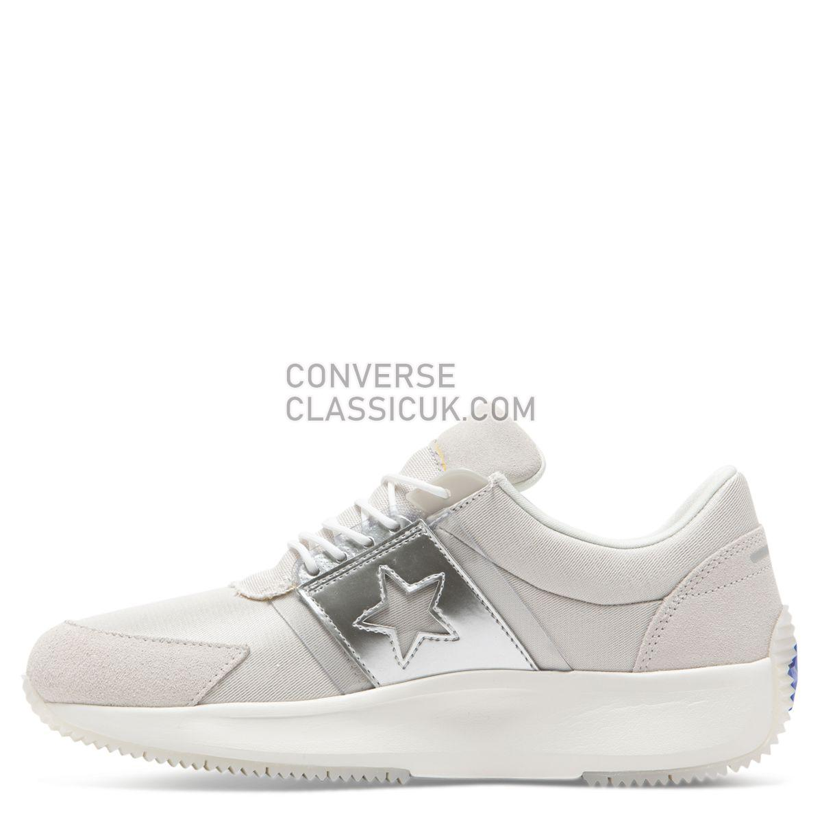 Converse Run Star Spacecraft Low Top Pale Putty Mens 165060 Pale Putty/Pure Silver/Vintage White Shoes