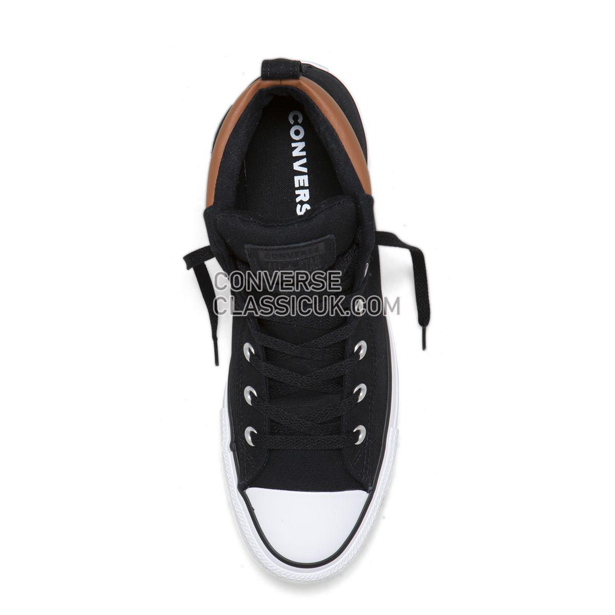 Converse Chuck Taylor All Star Street Space Explorer Mid Black Mens 165389 Black/Warm Tan/White Shoes