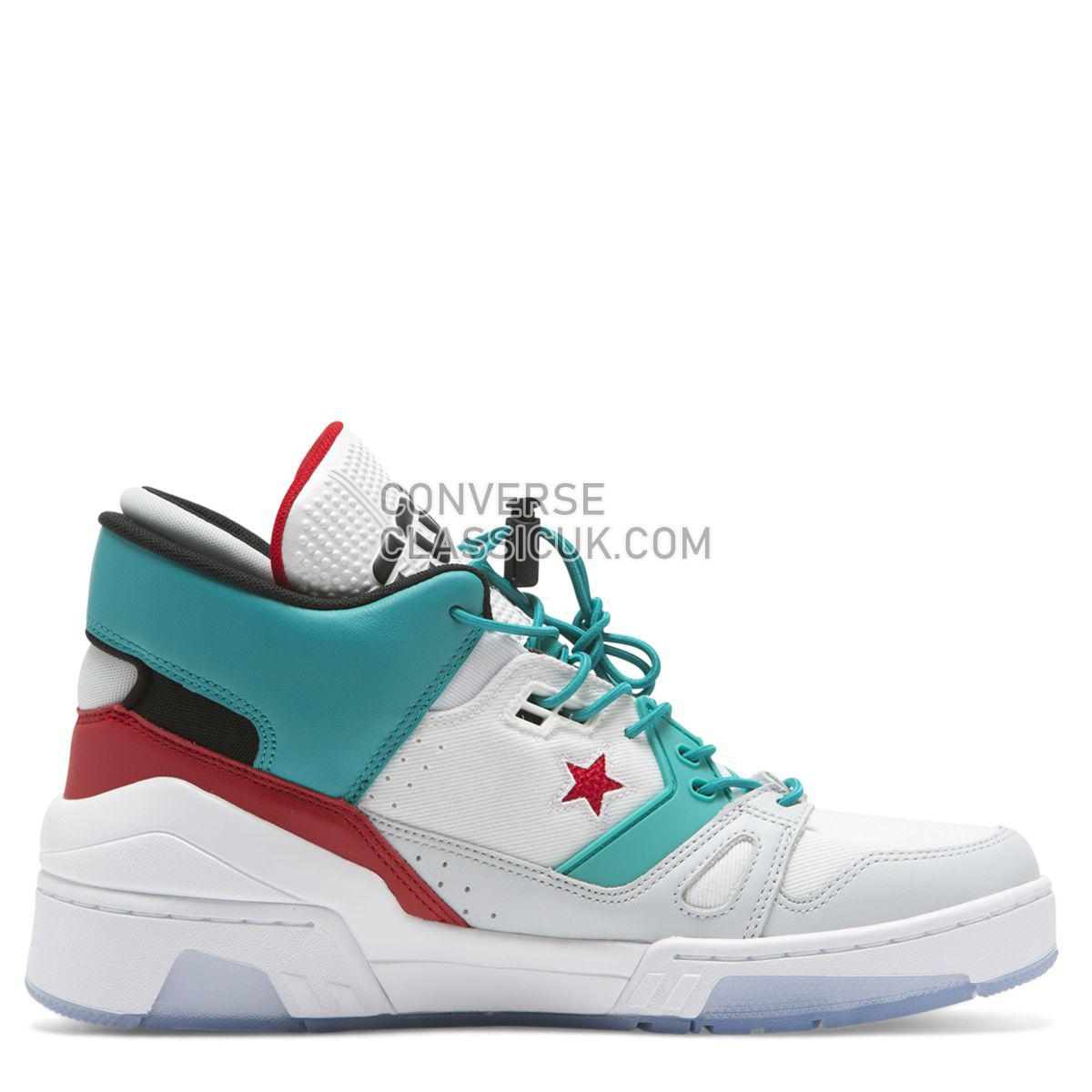 Converse ERX 260 Space Racer Mid White Mens 165077 White/Turbo Green/Enamel Red Shoes