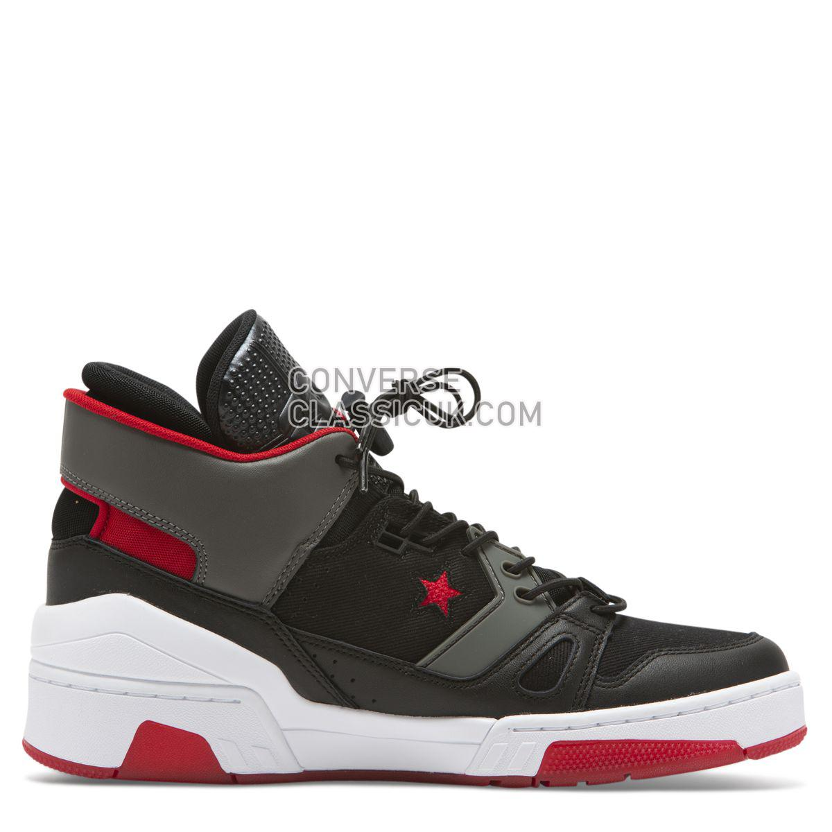 Converse ERX 260 Space Racer Mid Black Mens 165079 Black/Enamel Red/Carbon Grey Shoes