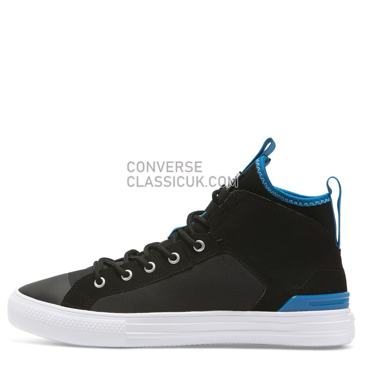Converse Chuck Taylor All Star Ultra Cons Force Mid Black Mens Womens Unisex 165340 Black/Imperial Blue/White Shoes
