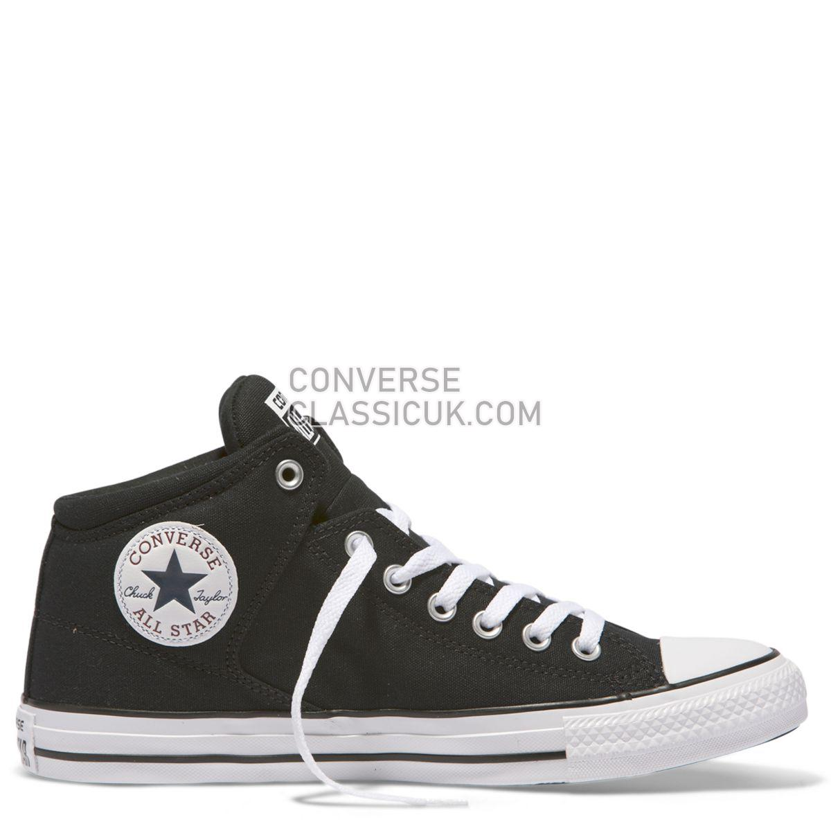 Converse Chuck Taylor All Star High Street Mid Black Mens Womens Unisex 151041 Black/Black/White Shoes