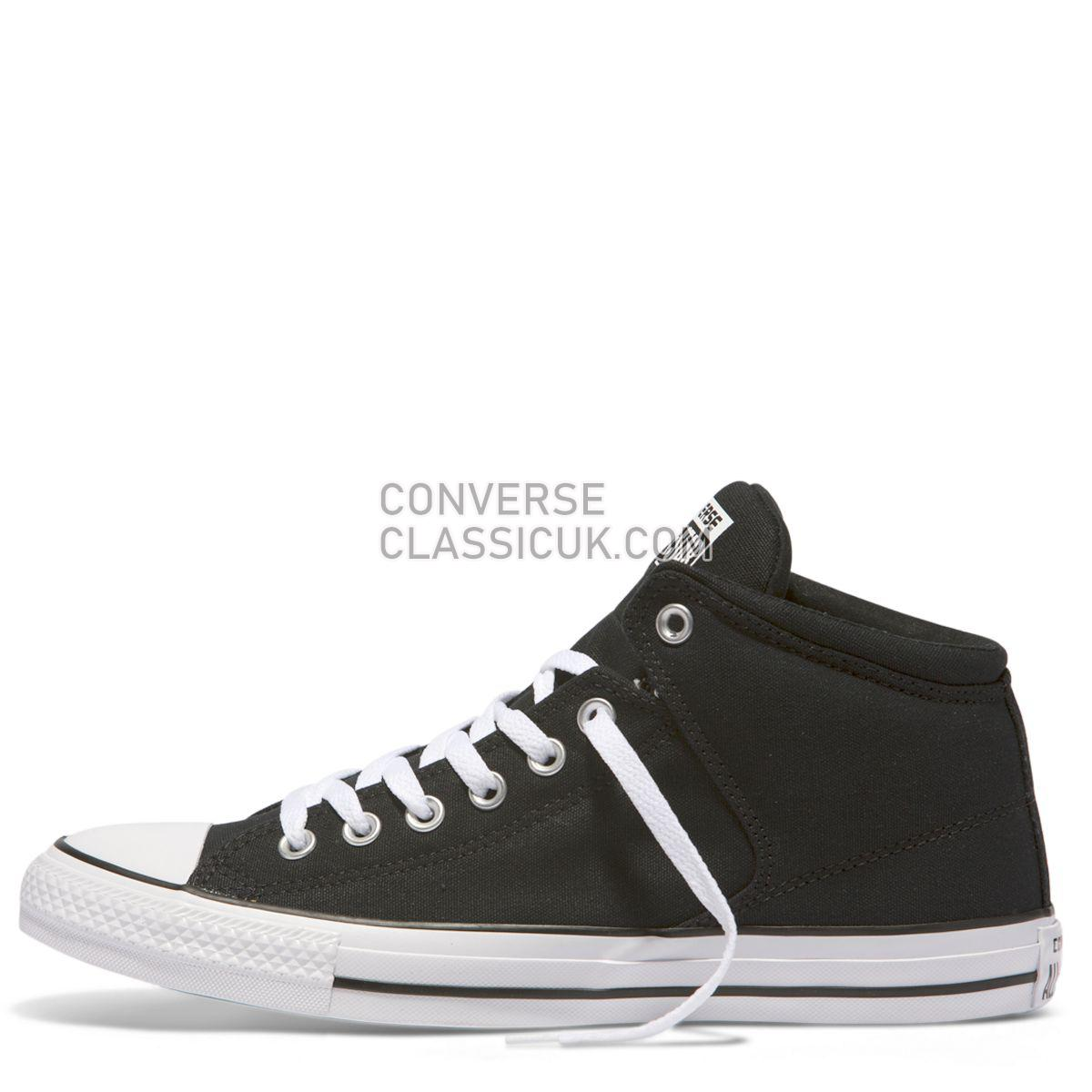 Converse Chuck Taylor All Star High Street Mid Black Mens Womens Unisex 151041 Black/Black/White Shoes