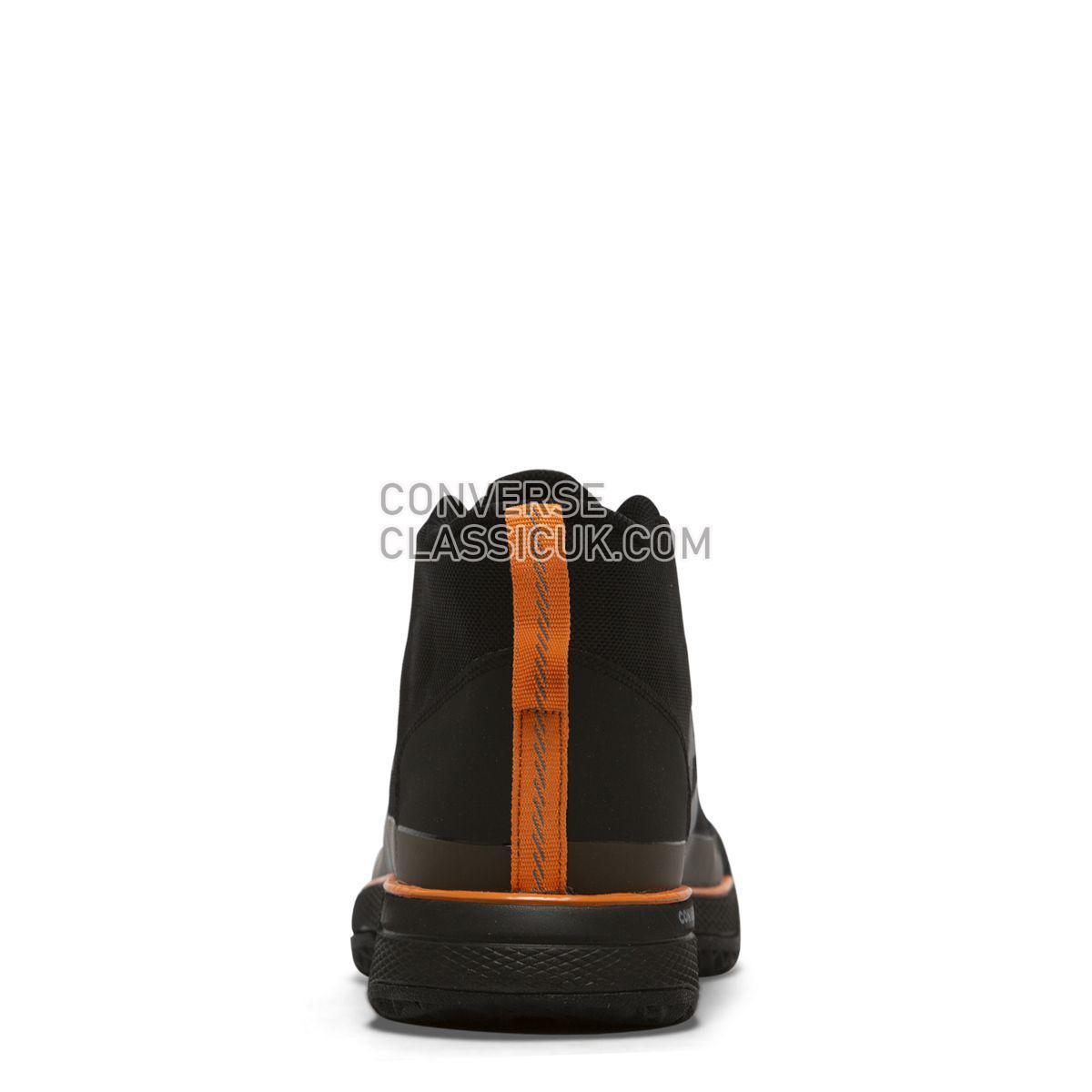 Converse X Tinker Hatfield Star Series BB Mid Black Mens 165592 Black/Bold Mandarin/Wolf Grey Shoes