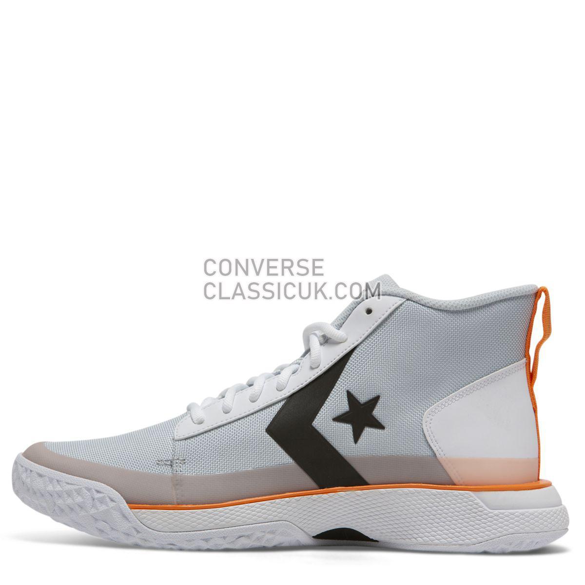 Converse X Tinker Hatfield Star Series BB Mid Pure Platinum Mens 165591 Pure Platinum/Bold Mandarin Shoes