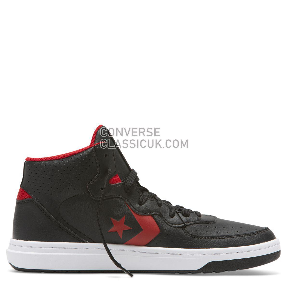 Converse Rival Shoot For The Moon Mid Black Mens 164889 Black/Enamel Red/White Shoes