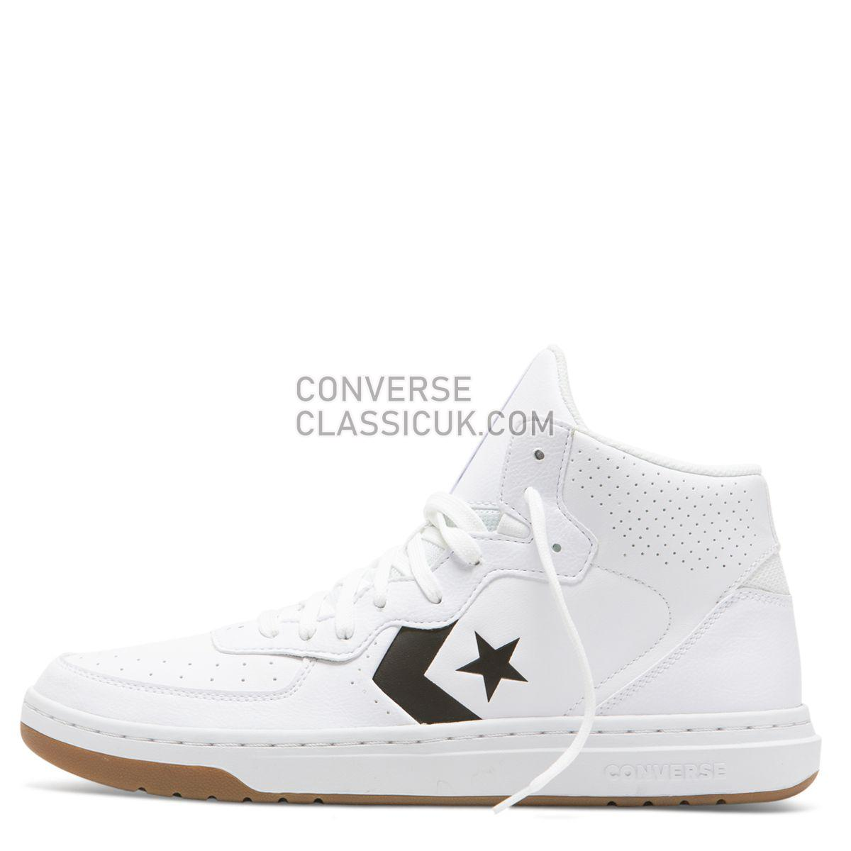 Converse Rival Shoot For The Moon Mid White Mens 164890 White/Black/White Shoes