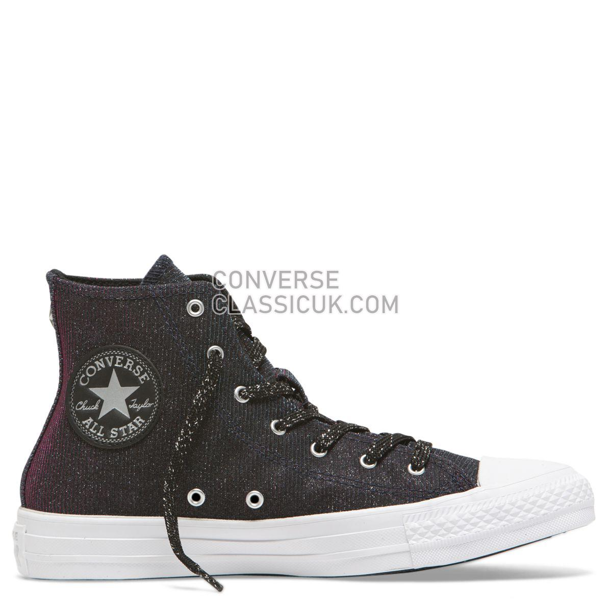 Converse Chuck Taylor All Star Starware High Top Laser Black Womens 564911 Laser Black/Pink/Pure Silver Shoes