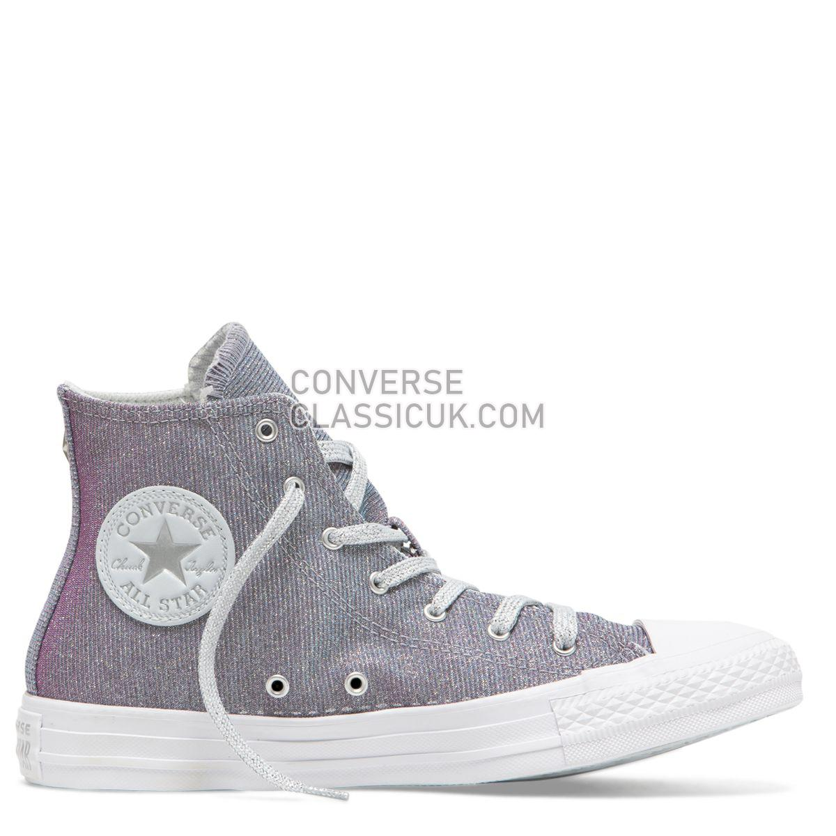 Converse Chuck Taylor All Star Starware High Top Pure Platinum Womens 564910 Pure Platinum/Blue/Pink Shoes