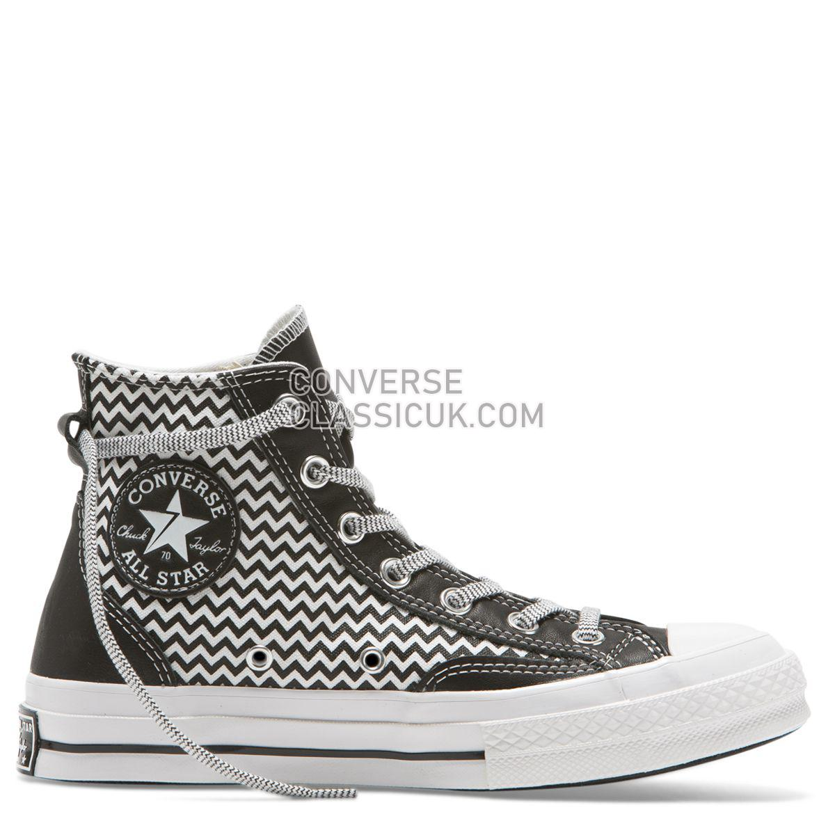 Converse Chuck Taylor All Star 70 Mission-V High Top Converse Black Womens 564969 Converse Black/White/White Shoes