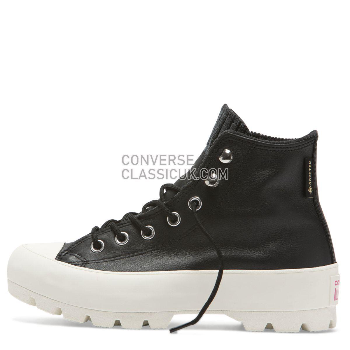 Converse Chuck Taylor All Star Lugged Winter Retrograde High Top Black Womens 565006 Black/Mod Pink/Egret Shoes