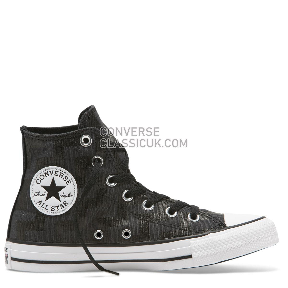 Converse Chuck Taylor All Star Glam Dunk High Top Black Womens 565212 Black/Almost Black/White Shoes