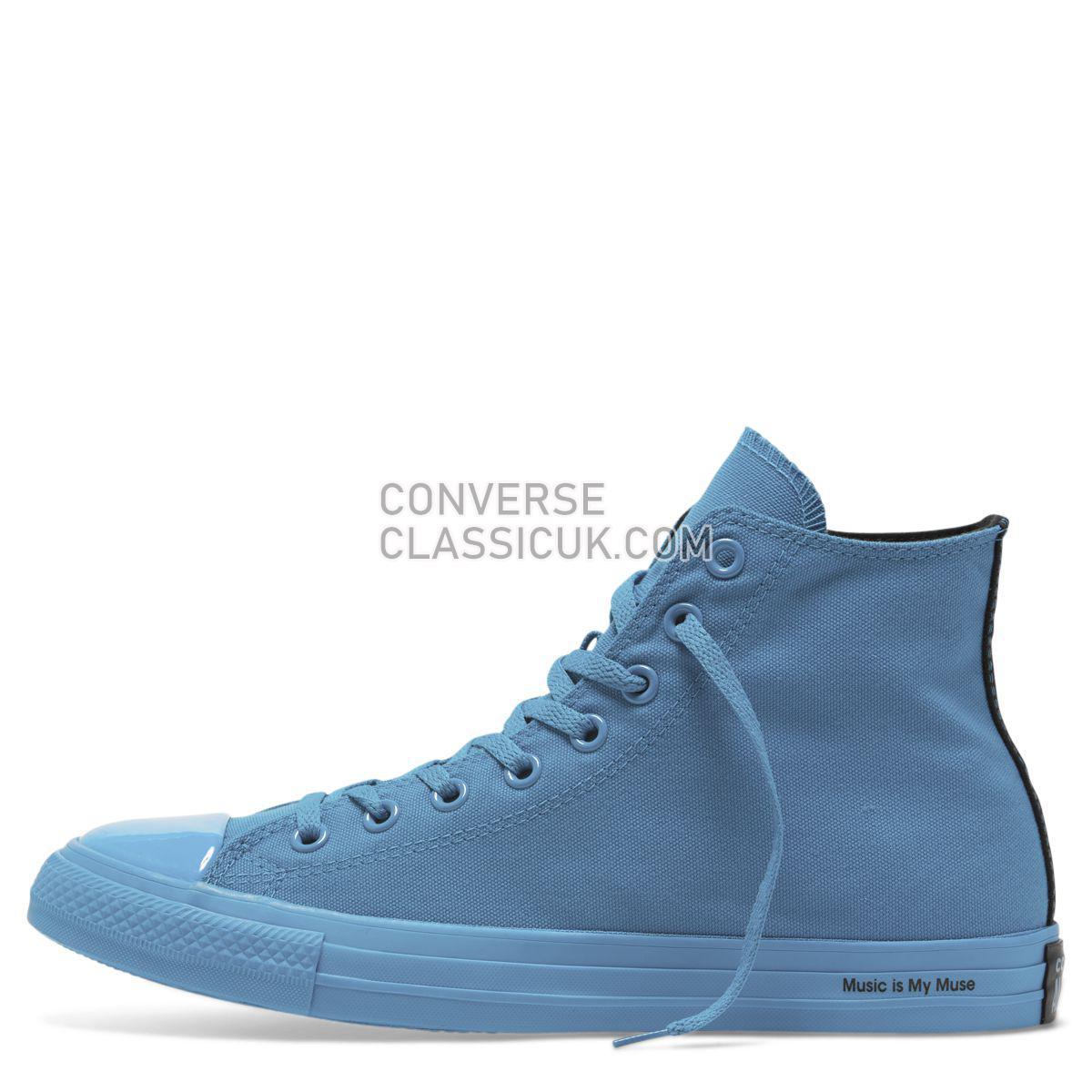 Converse X OPI Chuck Taylor All Star High Top Cyan Space Womens 165659 Cyan Space/Black/Cyan Space Shoes