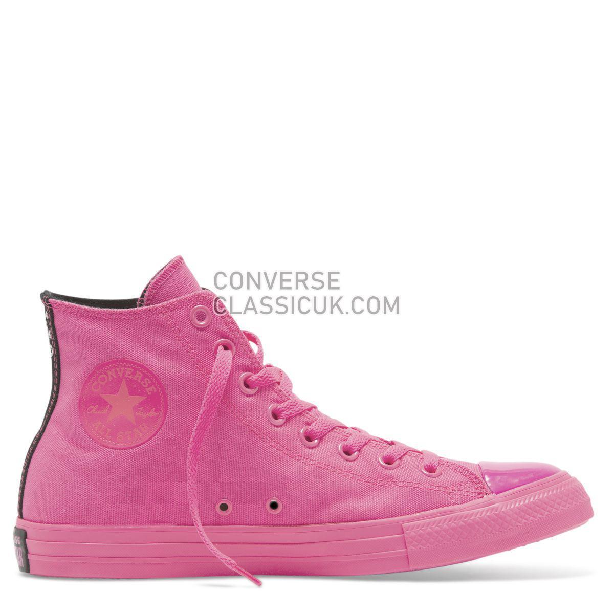 Converse X OPI Chuck Taylor All Star High Top Hyper Pink Womens 165658 Hyper Pink/Black/Hyper Pink Shoes
