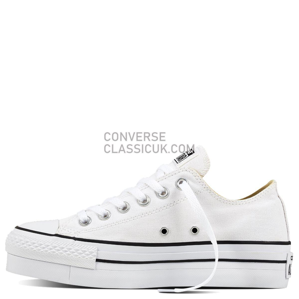 Converse Chuck Taylor All Star Lift Low Top White Womens 560251 White/Black/White Shoes