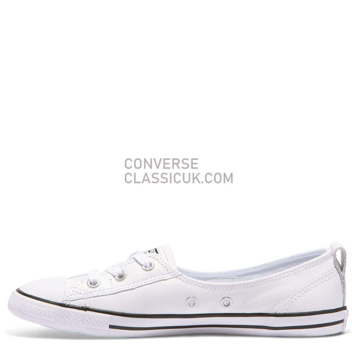 Converse Chuck Taylor All Star Dainty Ballet Slip White Womens 549617 White/Black/White Shoes
