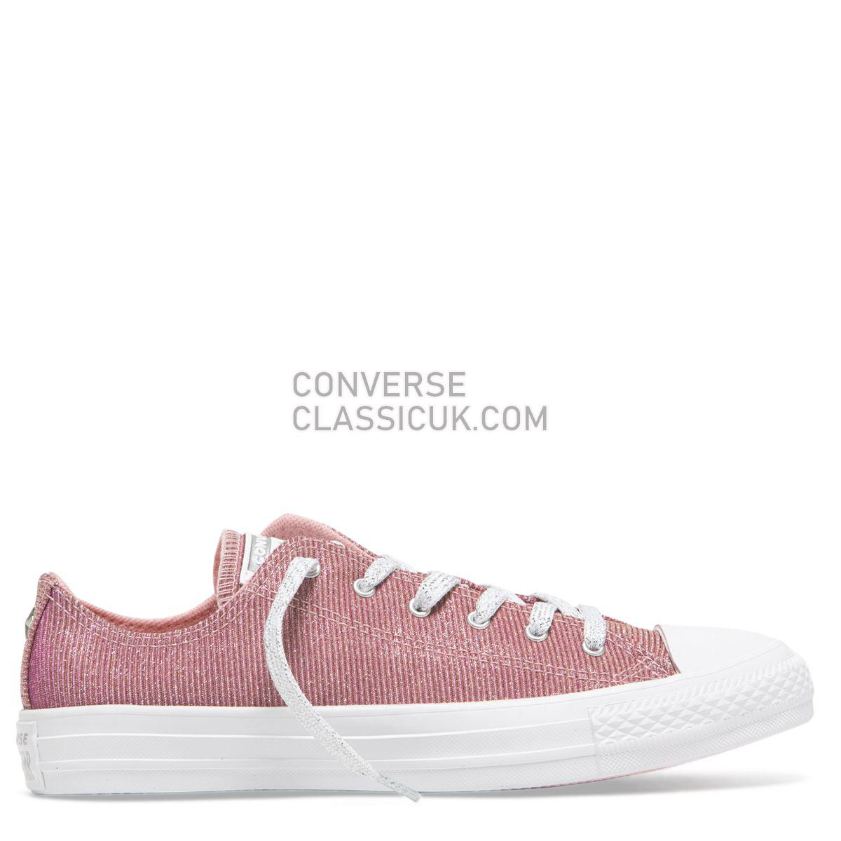 Converse Chuck Taylor All Star Starware Low Top Coastal Pink Womens 564915 Coastal Pink/Light Rouge/Pure Silver Shoes