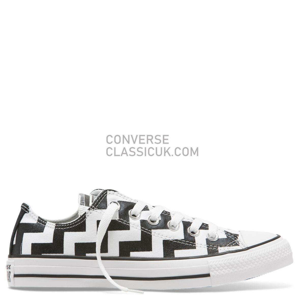 Converse Chuck Taylor All Star Glam Dunk Low Top White Womens 565438 White/Black/White Shoes