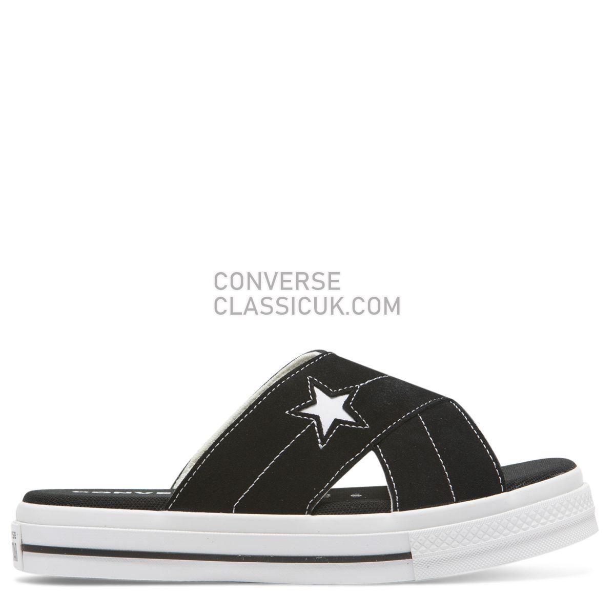 Converse One Star Sandal Slip Black/Egret Womens 564143 Black/Egret/White Shoes