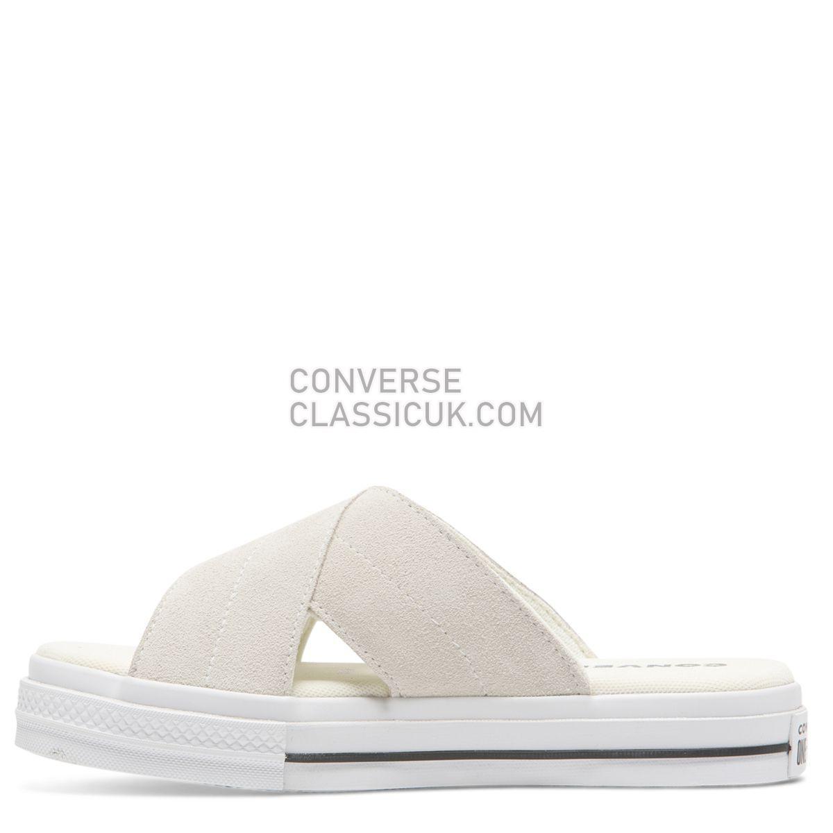Converse One Star Sandal Slip Egret Womens 564144 Egret/Egret/White Shoes
