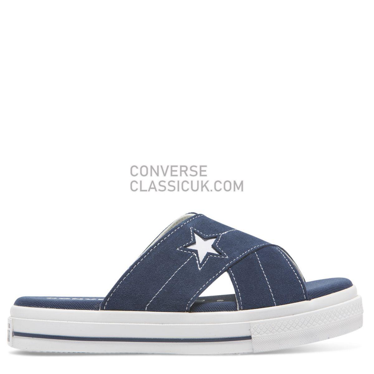 Converse One Star Sandal Slip Navy Womens 564147 Navy/Egret/White Shoes
