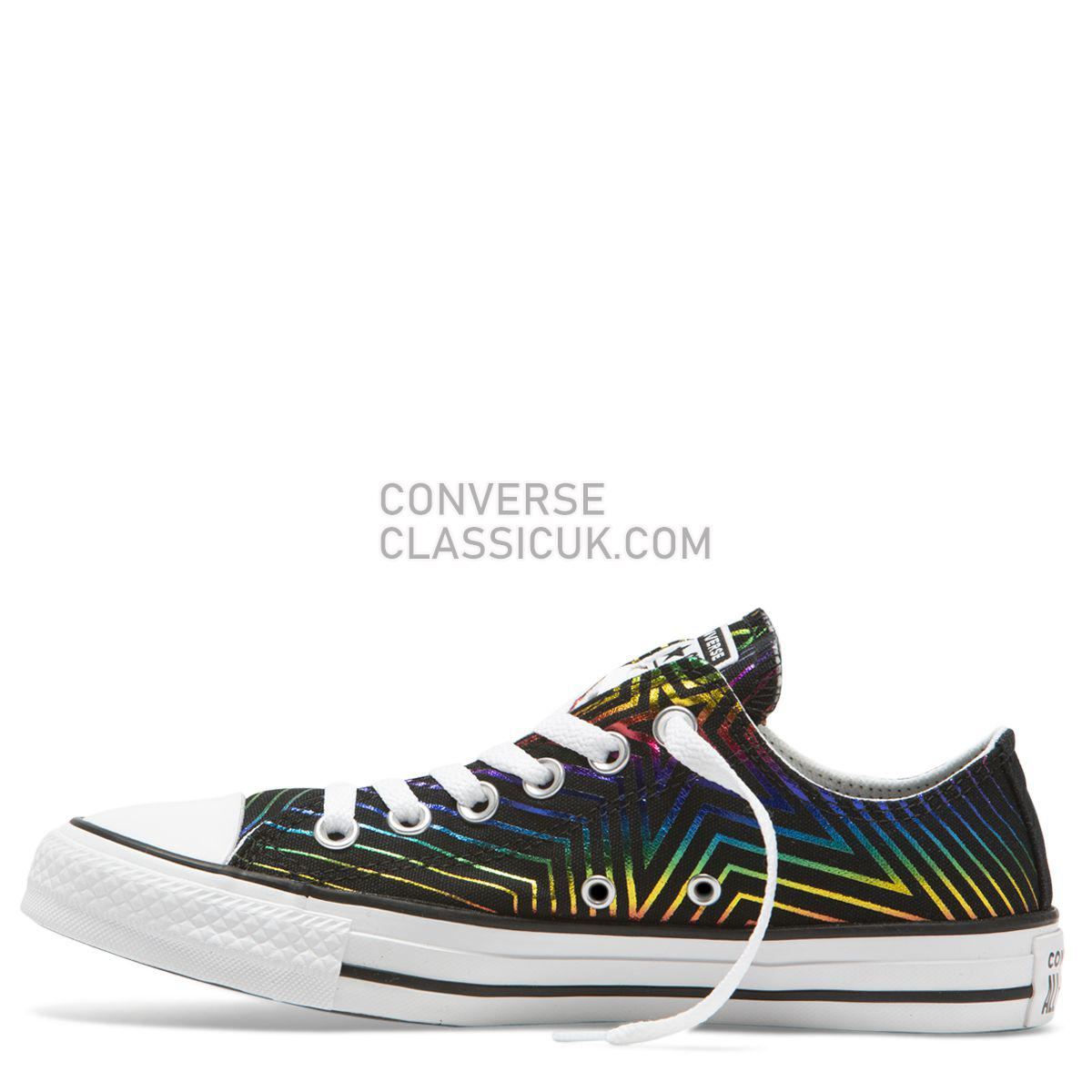 Converse Chuck Taylor All Star All Of The Stars Low Top Black Womens 565439 Black/White/Black Shoes