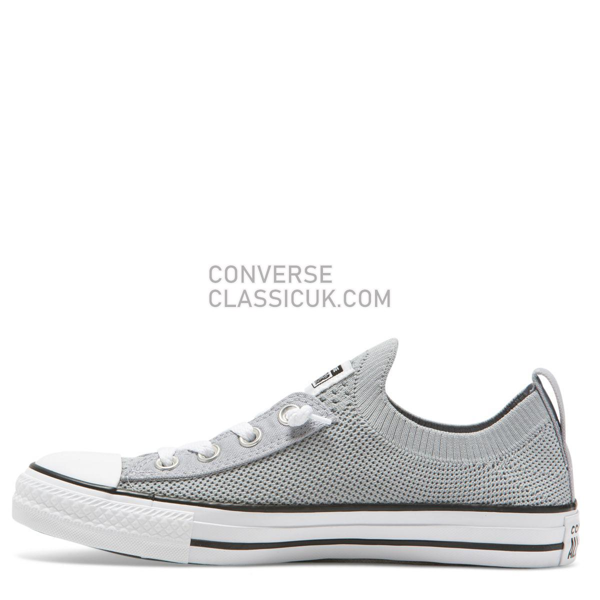 Converse Chuck Taylor All Star Shoreline Knit Slip Low Top Wolf Grey Womens 565232 Wolf Grey/White/Black Shoes