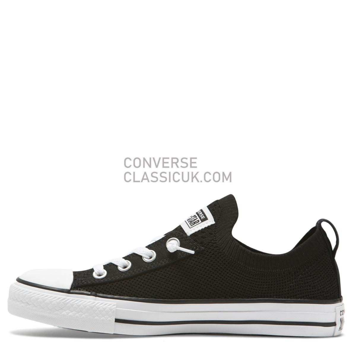 Converse Chuck Taylor All Star Shoreline Knit Slip Low Top Black Womens 565489 Black/White/Black Shoes
