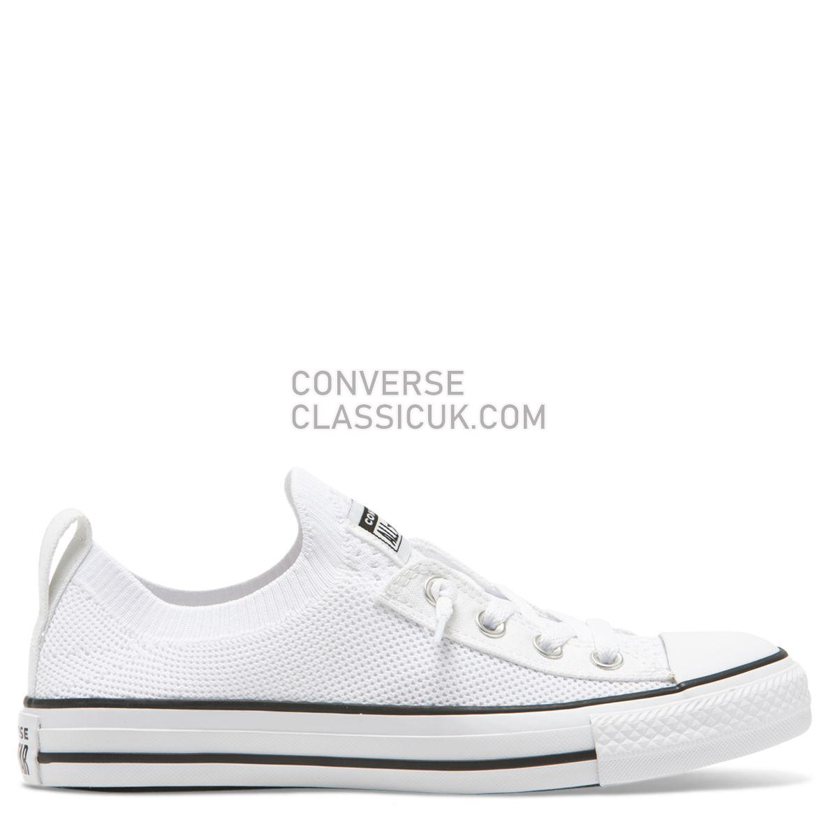 Converse Chuck Taylor All Star Shoreline Knit Slip Low Top Wolf White Womens 565490 White/Black/White Shoes