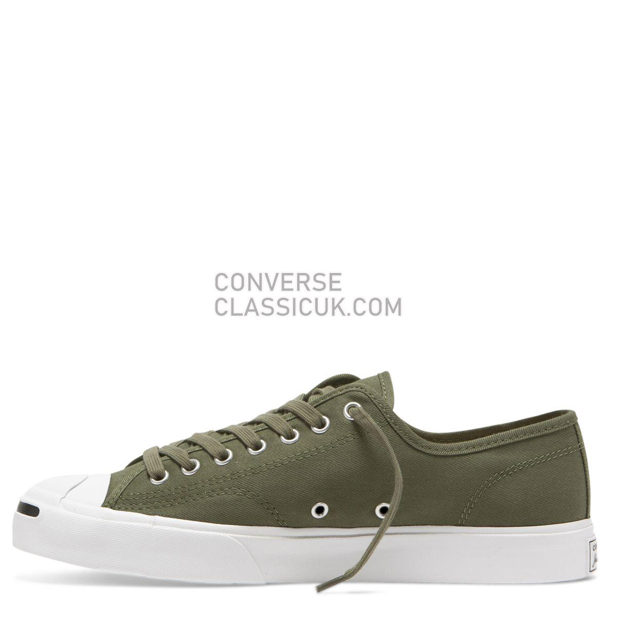 Converse Jack Purcell Twill Low Top Field Surplus Mens 164105 Field Surplus/White/Black Shoes