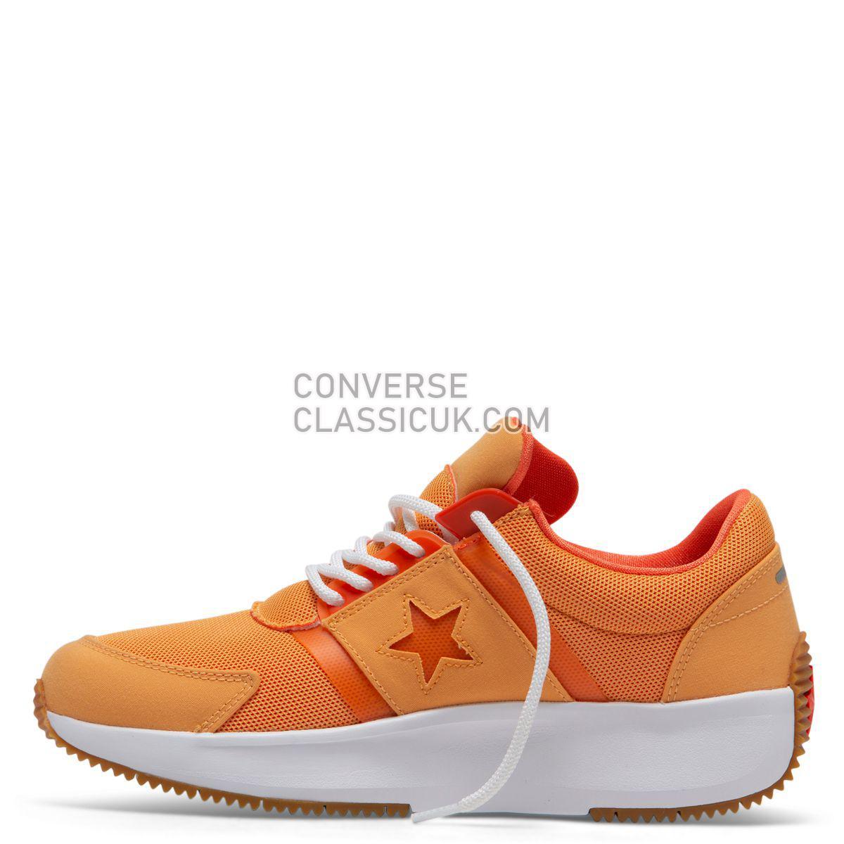 Converse Run Star Retro Glow Low Top Melon Baller Mens 164290 Melon Baller/Turf Orange/White Shoes