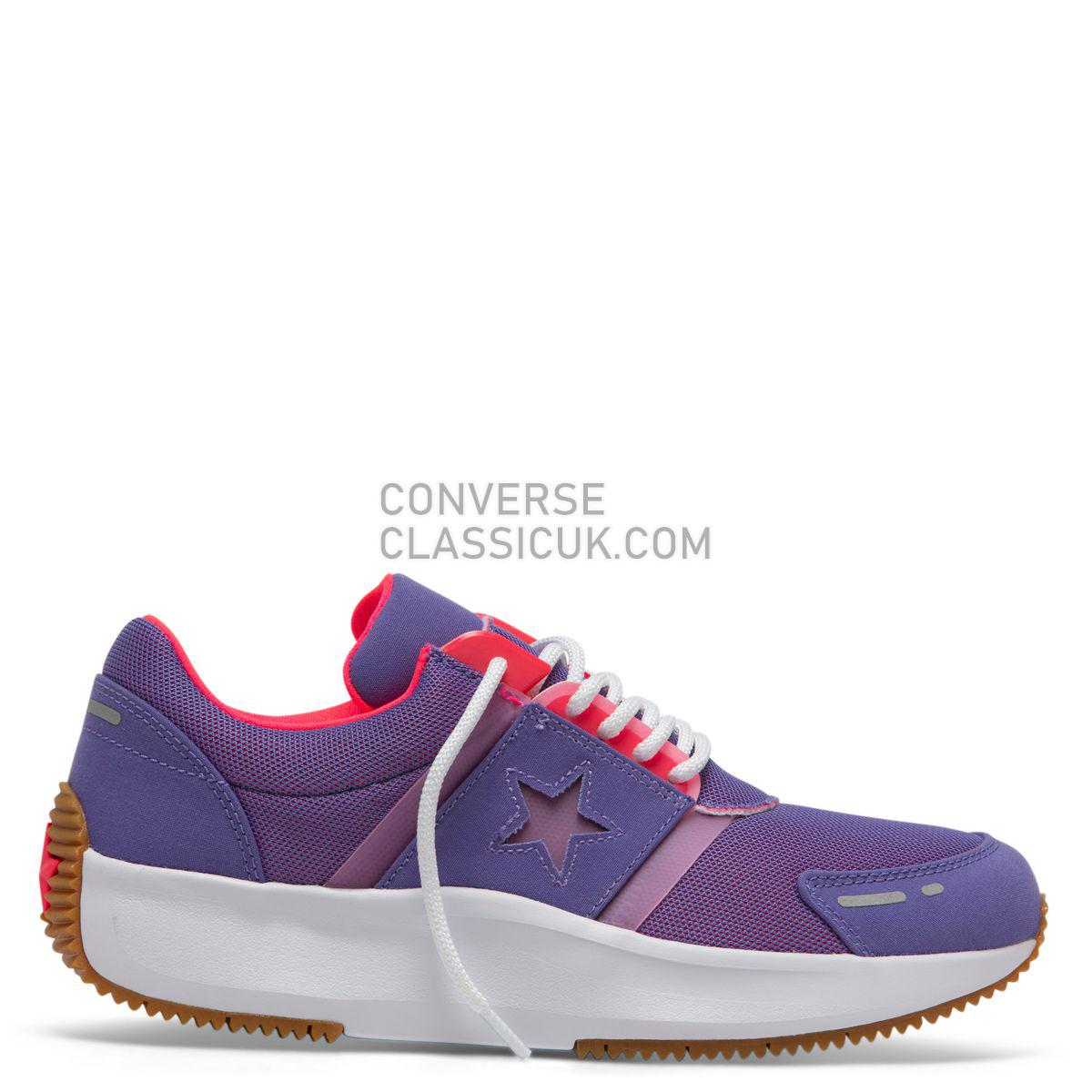 Converse Run Star Retro Glow Low Top Wild Lilac Mens 164291 Wild Lilac/Racer Pink/White Shoes