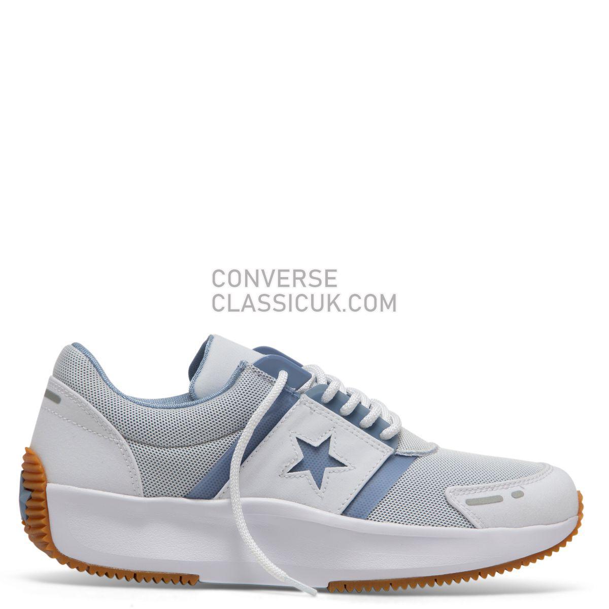 Converse Run Star Retro Glow Low Top Wild White/Indigo Fog Mens 164292 White/Indigo Fog/White Shoes