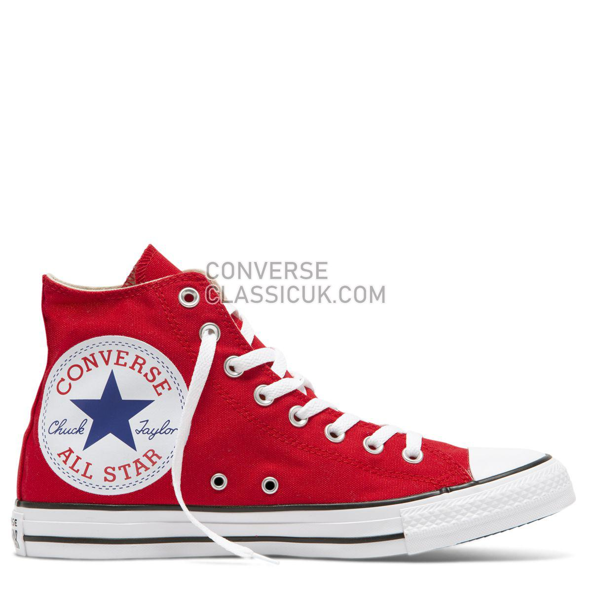 Converse Chuck Taylor All Star Oversized Logo High Top Red Mens Womens Unisex 165695 Red/White/Black Shoes